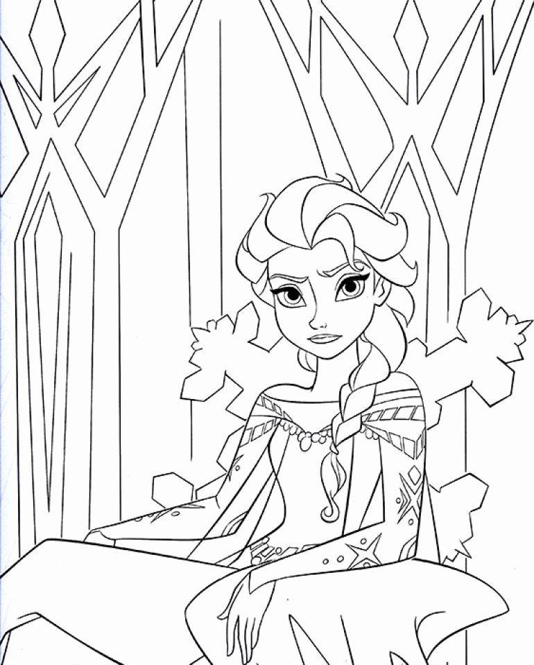 32 Princess Elsa Coloring Page Frozen Coloring Pages Disney