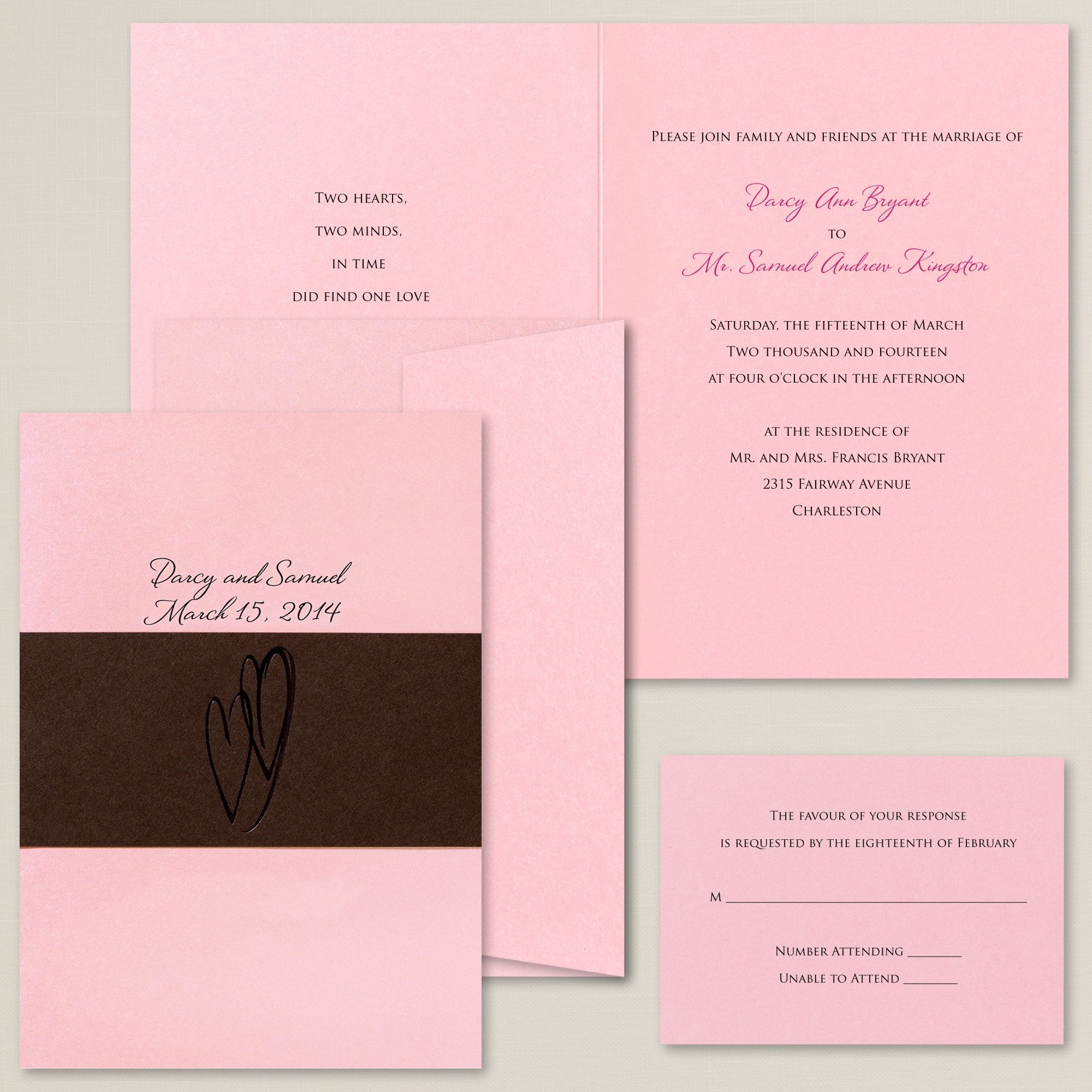 Exclusively Weddings Hearts Delight Wedding Invitations Is A Heart Design Twin Embellish The Charming Wrap On This Contemporary Invitation