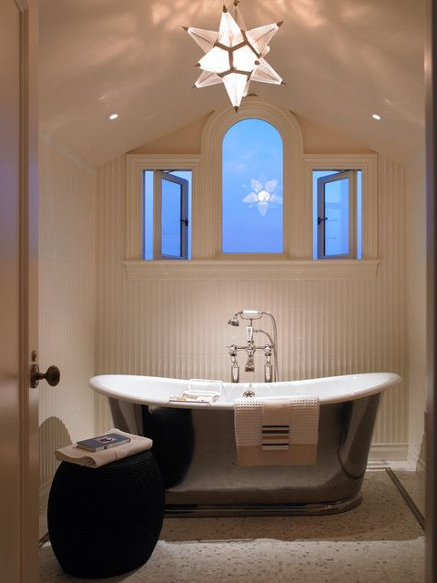 Enchanting Contemporary Bathroom Design With White Colored Marble ...