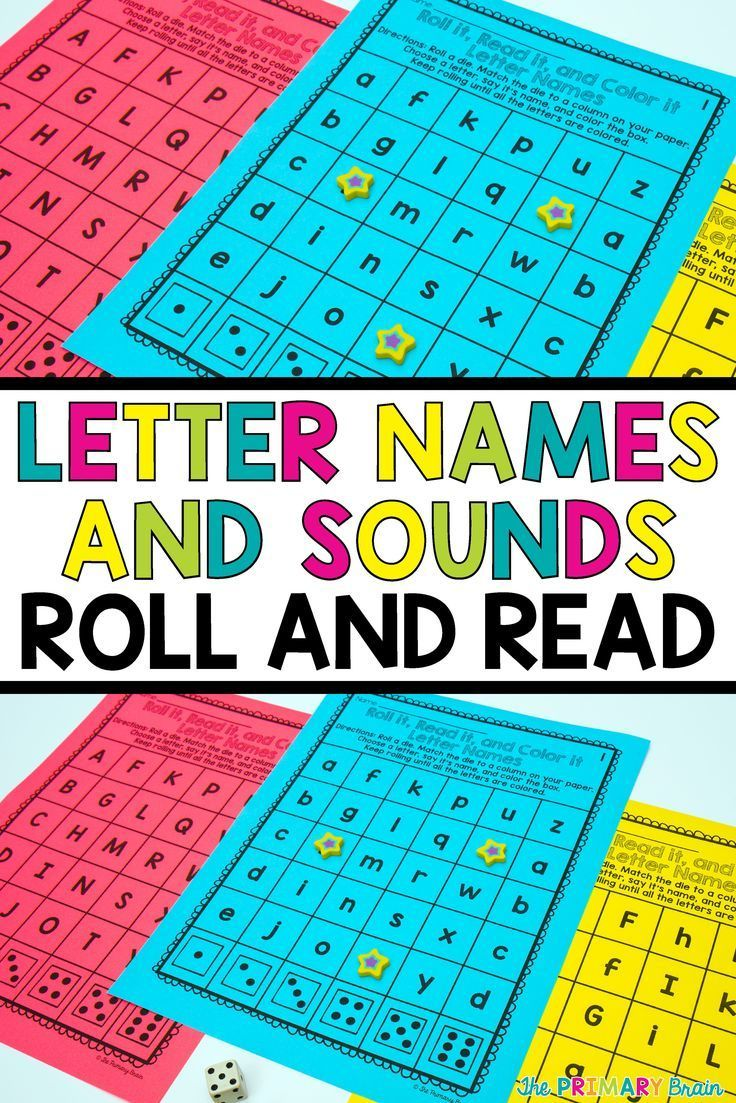 Roll and Read Letter Names and Sounds Activity (With