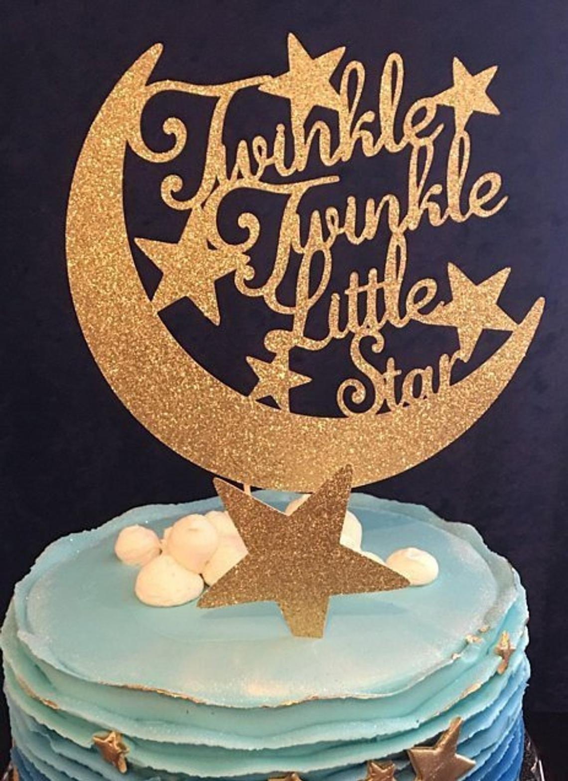 Twinkle Twinkle Little Star Cake Topper Little Star Birthday Cake Topper Little Star Baby Shower