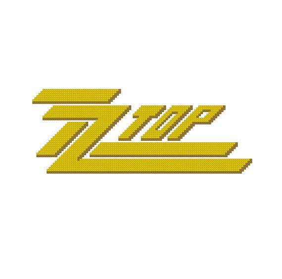 Cross Stitch Pattern Pdf Rock Music Band Logo Zz Top