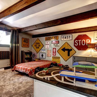 road sign wall for Mason\'s room   For my home ❤️   Boy ...