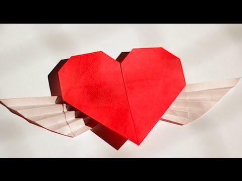 tutorial teaching how to make a origami heart with wings.  (Designed by: Francis Ow)  http://web.singnet.com.sg/~owrigami/    Origami Books, Papers & other stuffs here:  http://www.origami-shop.com/index.php?ref=12_banner_id=12