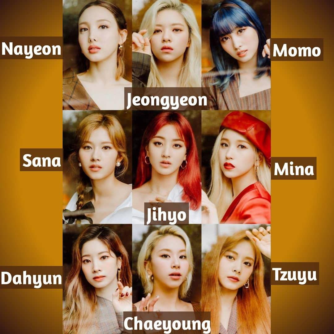 Twice Names Twice Names Twice Kpop Idol