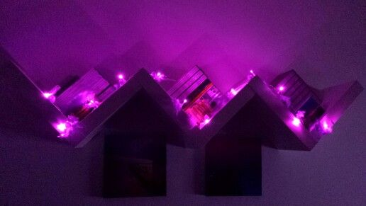 Purple mini lights...