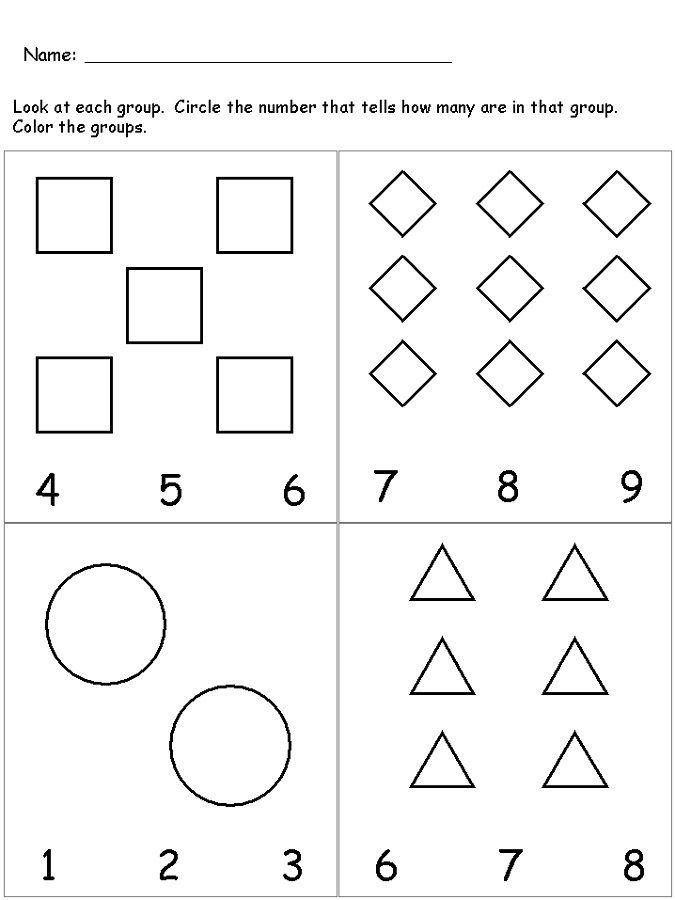 Pre K Number Worksheets | Learning worksheets, Preschool ...