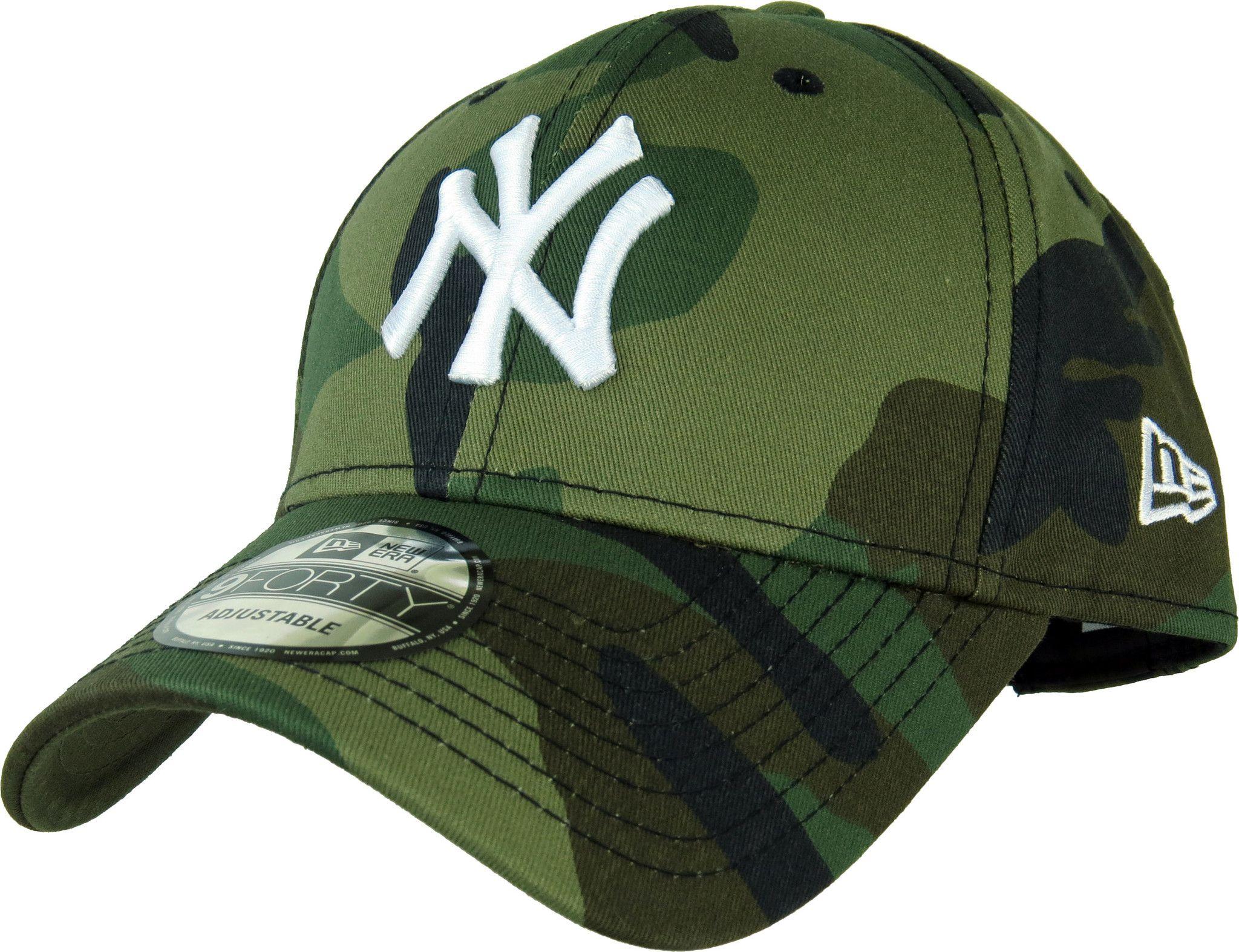 ... closeout new era 940 league essential ny yankees baseball cap woodland  camo with the white ny 651dc33189e