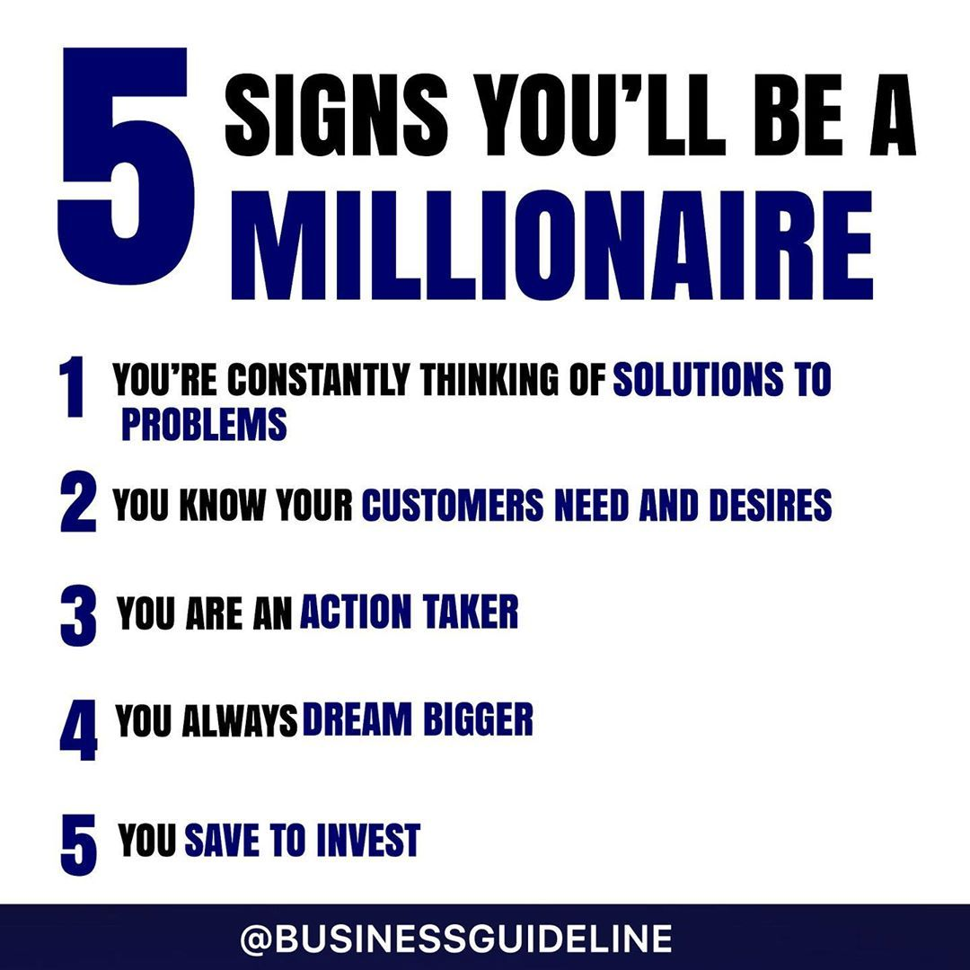 Are you going to be the first Millionaire of your family