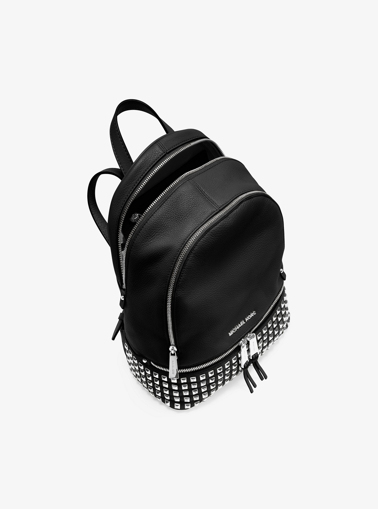 cadc030b78c5 Michael Kors Rhea Small Studded Leather Backpack - Black in 2018 ...