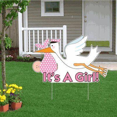 Robot Check Baby Sleeping Sign Stork Yard Sign Yard Signs