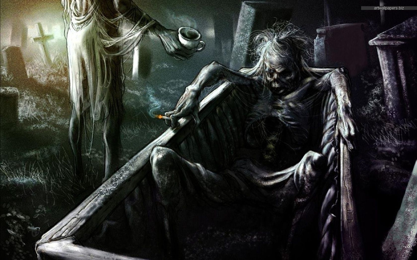 Dark Horror Wallpaper Background Gothic fantasy art