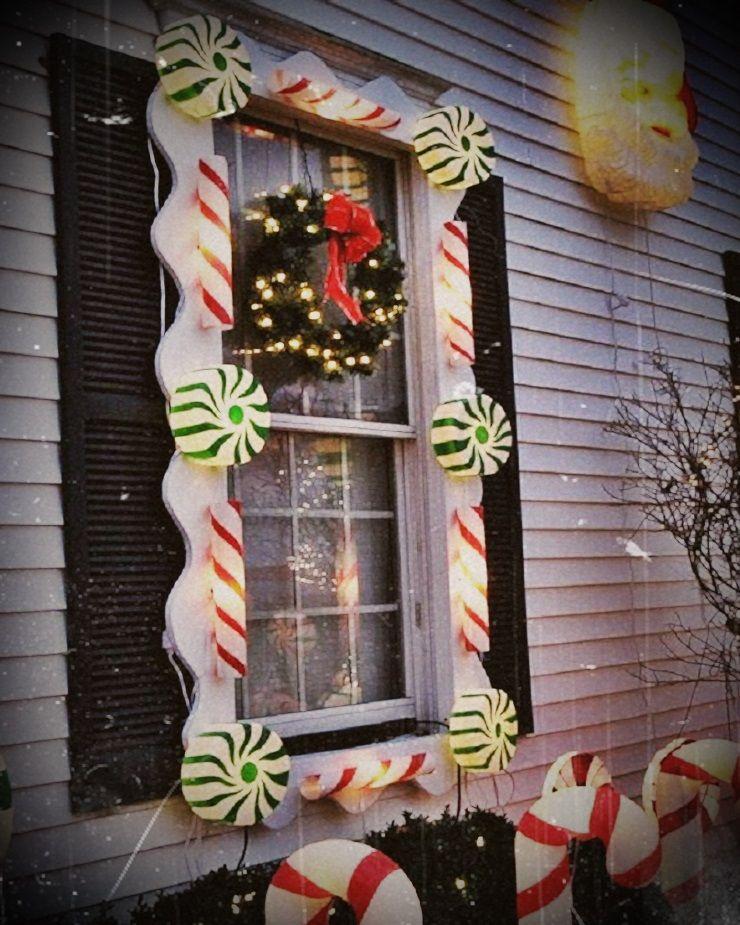 Charmante Weihnachtsfenster Lichter Dekoration Ideen ...