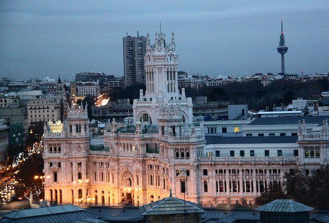Palacio De Cibeles Desde Azotea Circulo Bellas Artes Spain Places To Go Madrid