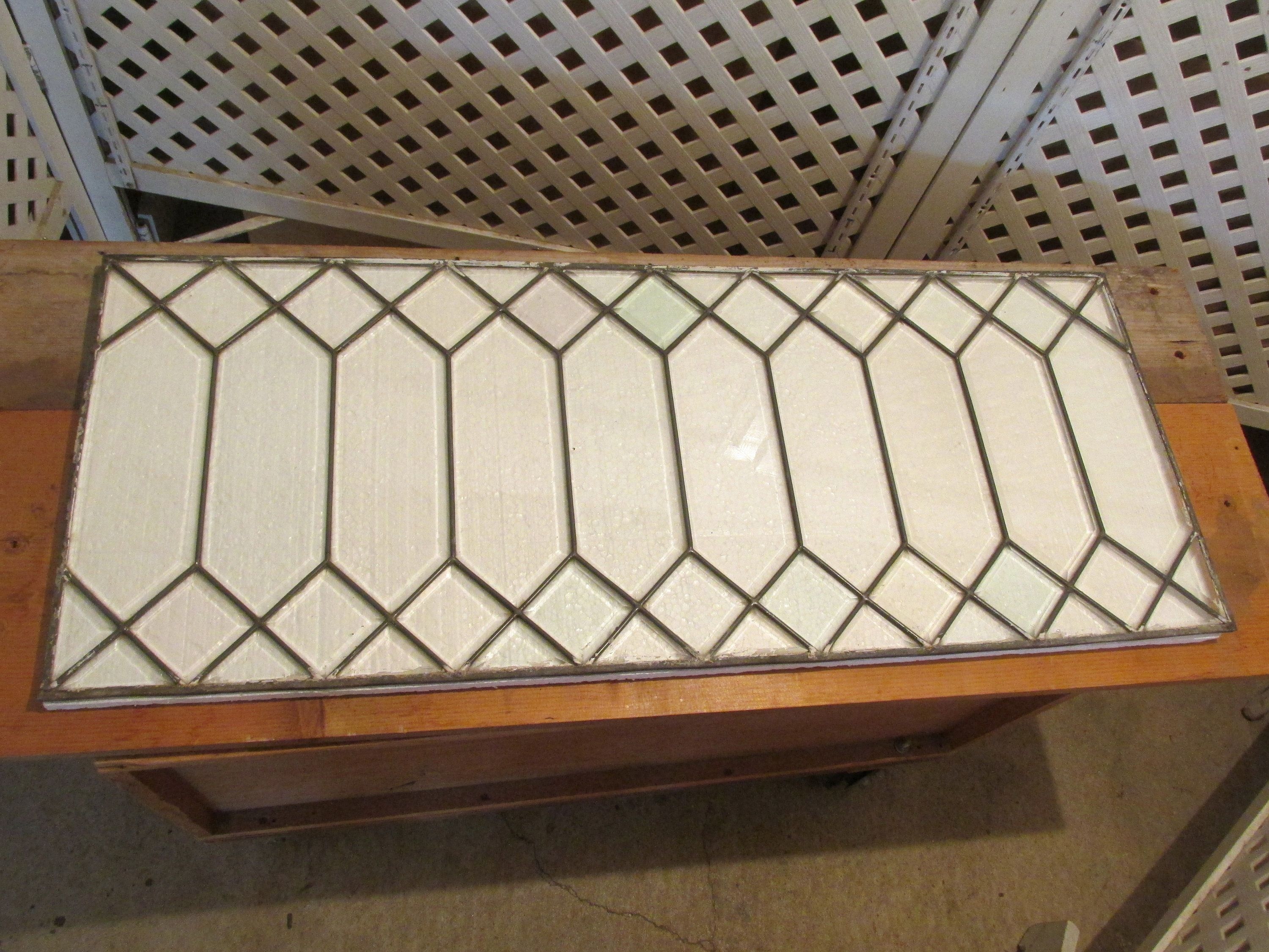 antique lead glass window 16 x 40 no frame in 2018 epsteam on etsy