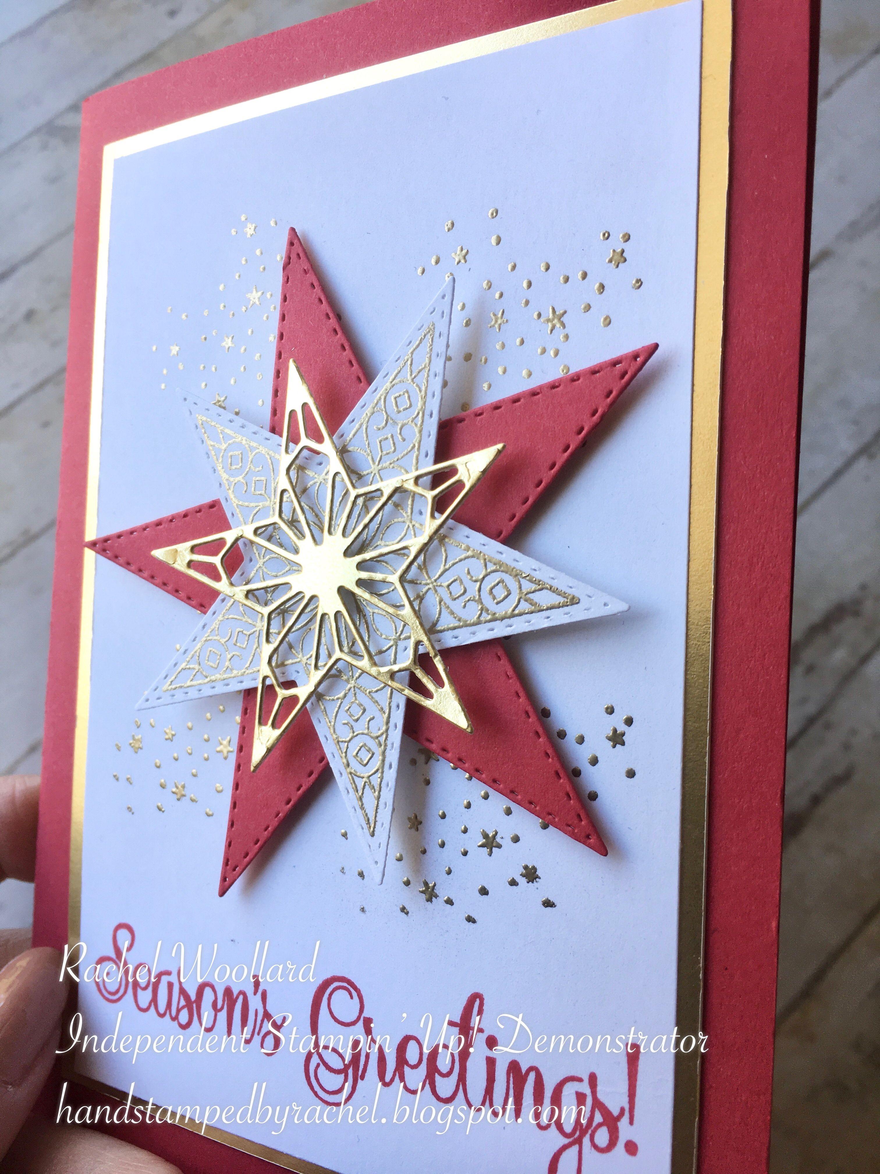 Stampin' Up! Stitched Stars #kerstideeën