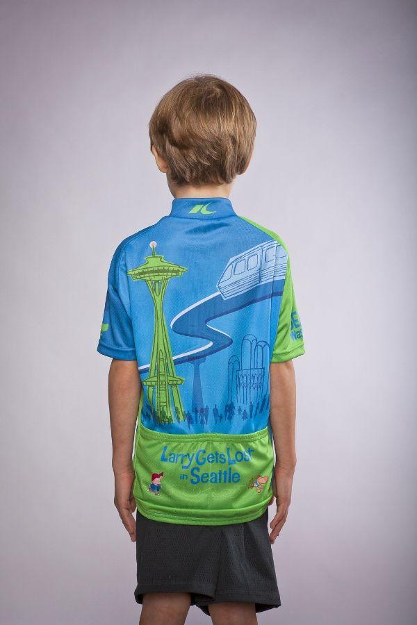 19008ff1e Seattle Washington Pacific Northwest Kids  Children s Cycling Jersey  Slideshow