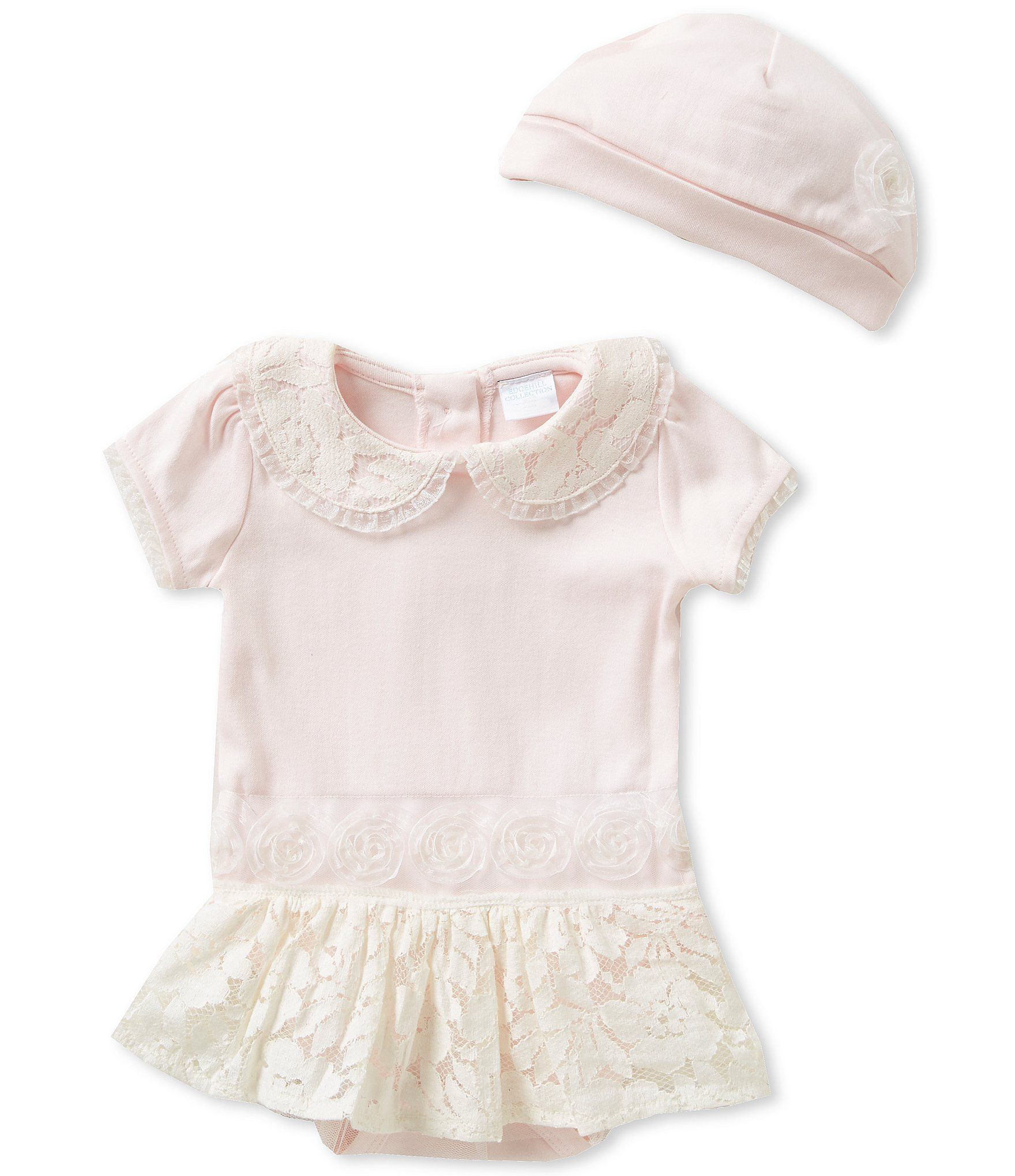 Edgehill Collection Baby Girls Newborn 6 Months Tutu Lace Trim