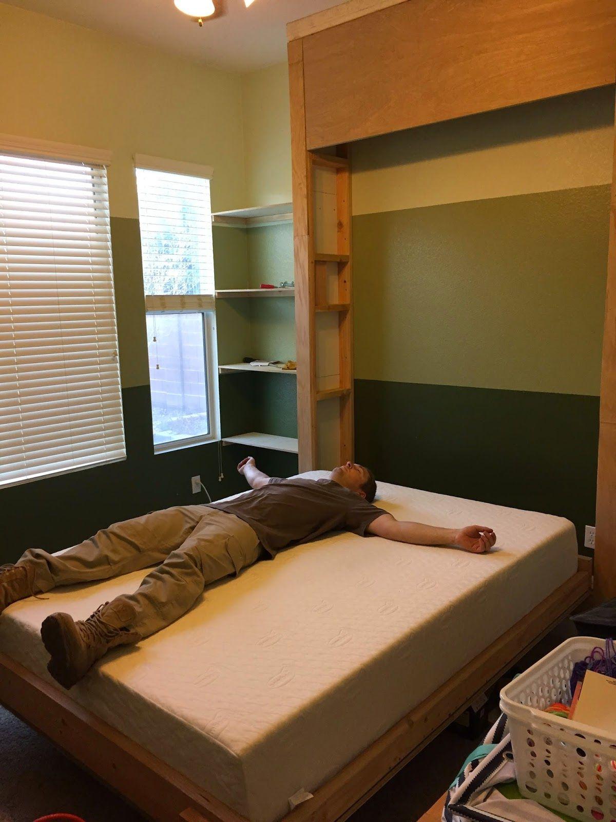 DIY Murphy Bed (Wall Bed) Murphy bed plans, Murphy bed