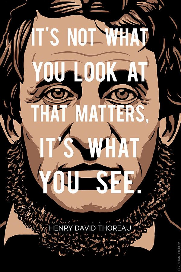 Henry David Thoreau Quotewhat You See by Elvin Dantes
