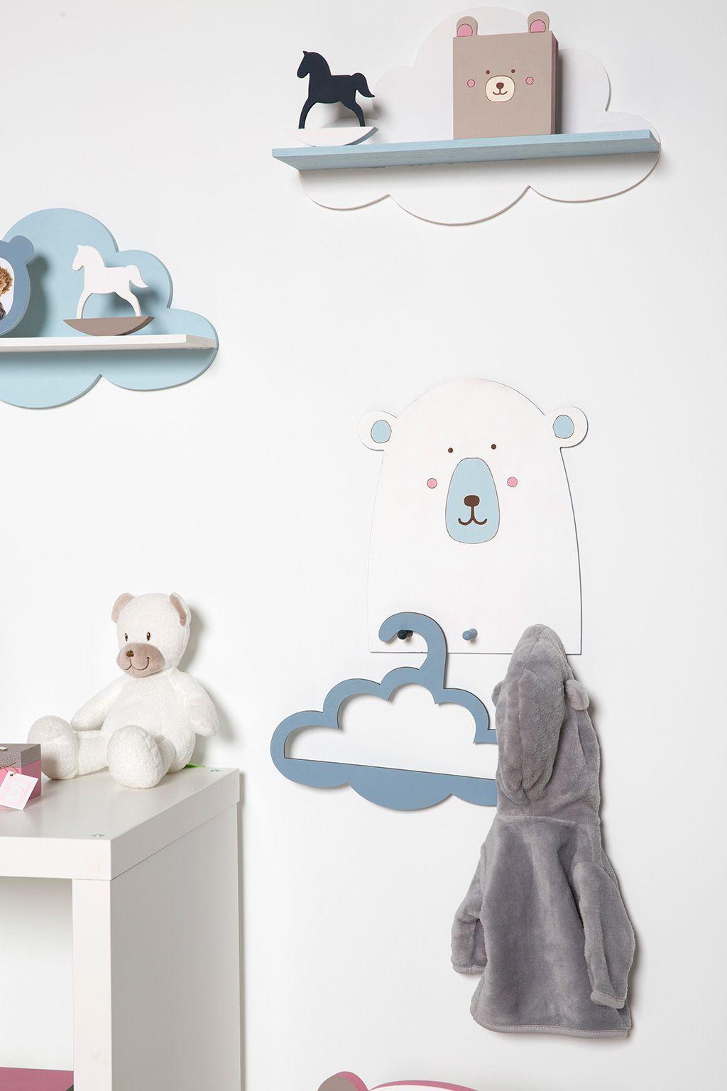Décoration de chambre bébé nuage et ours polaire.  Déco chambre