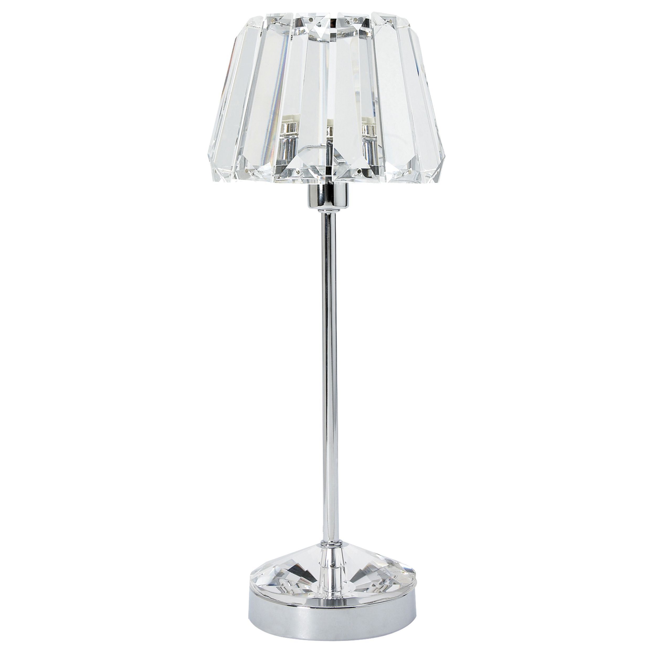 Table lamp vintage style - Laura Ashley Capri Chrome Lamp With Crystal Glass Shade