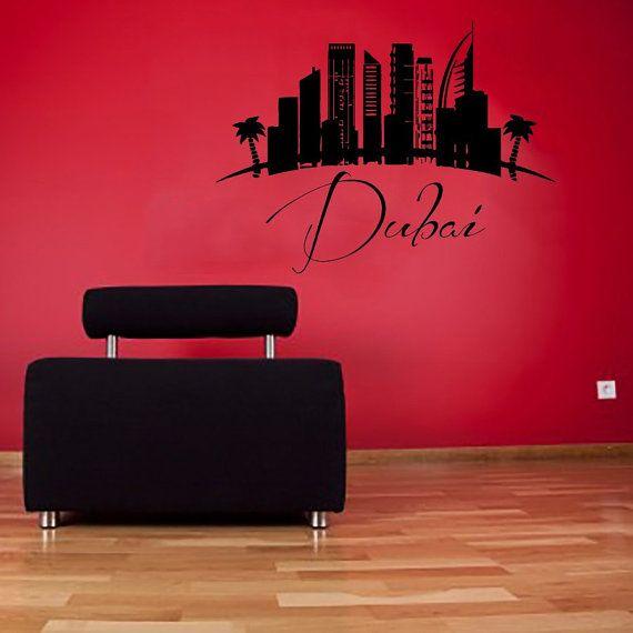 dubai wall decals uae landscape city skyline vinyl decal sticker art