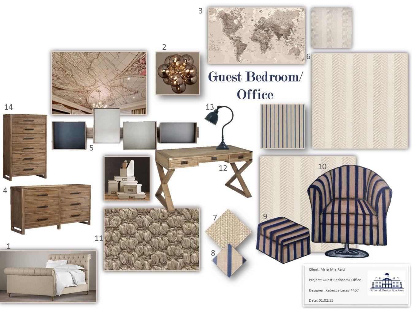 Guest Bedroom Presentation Board Module 11 Final Project
