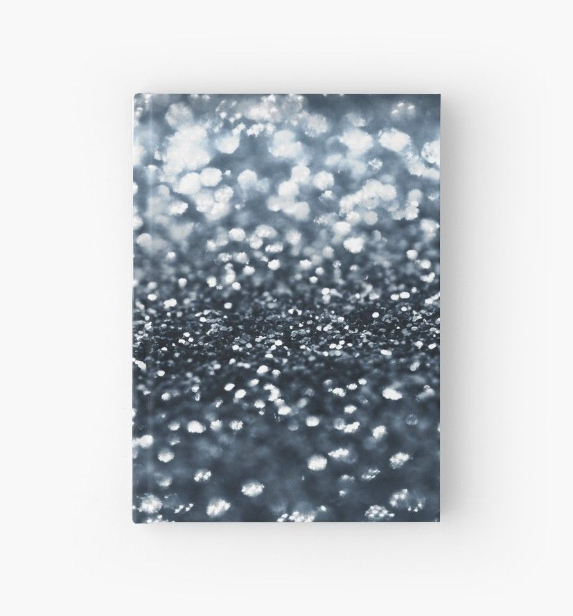 midnight navy blue glitter 1 shiny decor art hardcover journal