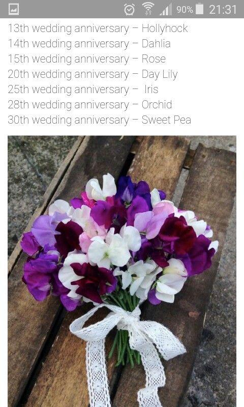 Wedding Anniversary Flowers By Year 14th Wedding Anniversary 28th Wedding Anniversary 30th Wedding Anniversary