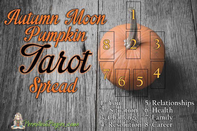 Autumn Moon Pumpkin Tarot Spread #fullmoontarotspread