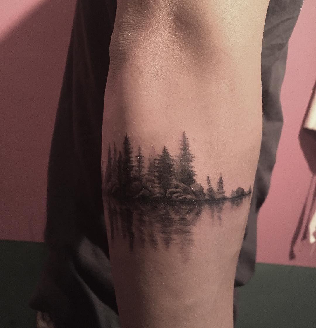 . Pulse & nature 자연을 리듬으로 표현해 보았습니다☺️ . #tattoo#nature#타투 #타투도안#난도타투