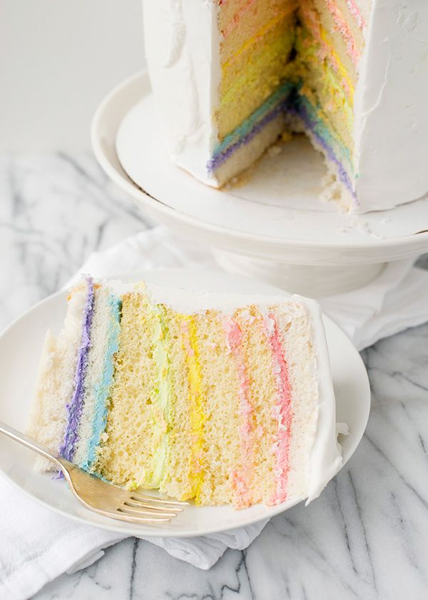 This might look like a plain white cake, but inside there is a surprise. Are you ready for it? A rainbow of frosting! My super sweet friend Amanda Rettke of I am Baker just published her first cookbook, Surprise-Inside Cakes!!! You guys, I knew that Amanda was crazy creative and talented, but really – this …