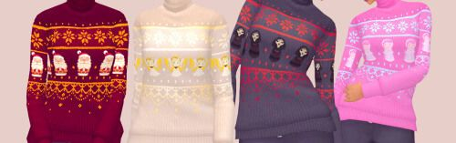 Overwatch Ugly Winter sweaters for The Sims 4