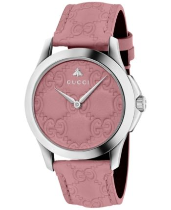 95b491d63 Gucci Women's Swiss G-Timeless Candy Pink Leather Strap Watch 38mm - Pink