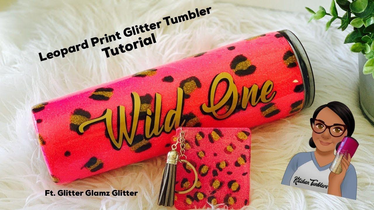 Asmr No Talking glittered leopard print tumbler tutorial no talking asmr