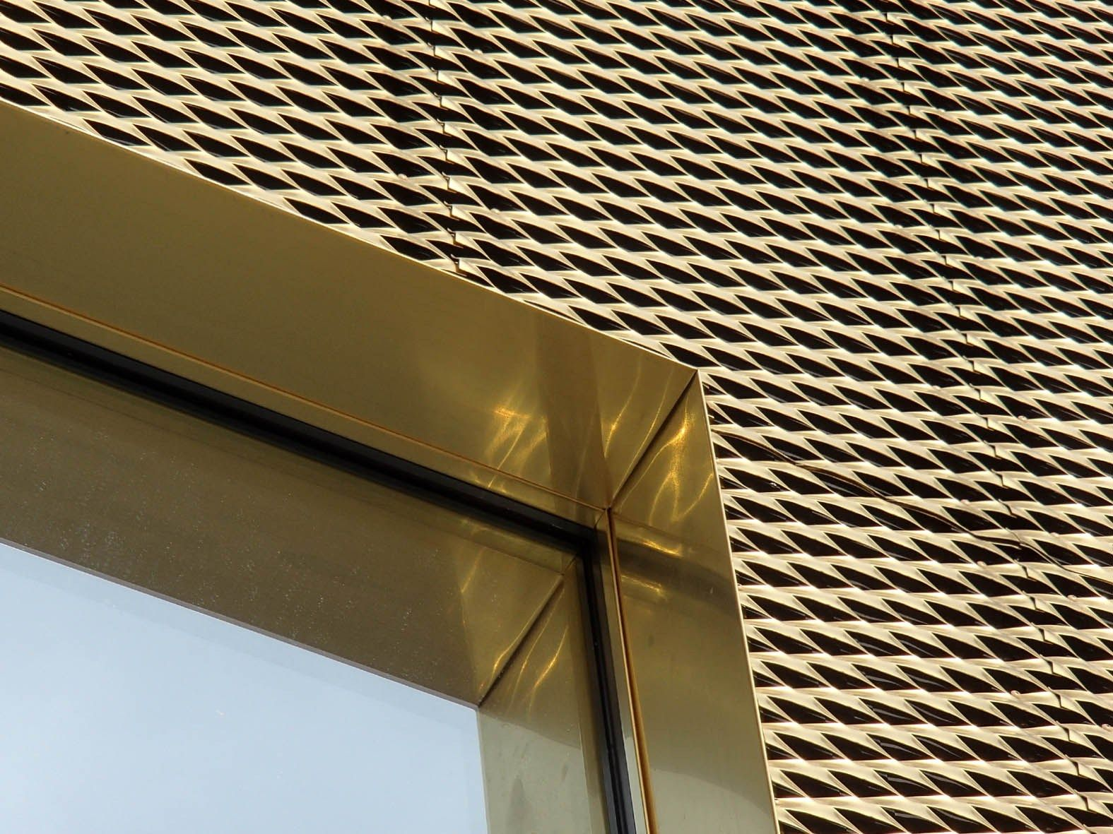 Metal Sheet And Panel For Roof Metal Sheet And Panel For Facade Tecu Gold Tecu Collection By Kme Italy S P A Facade Design Metal Facade Facade Architecture