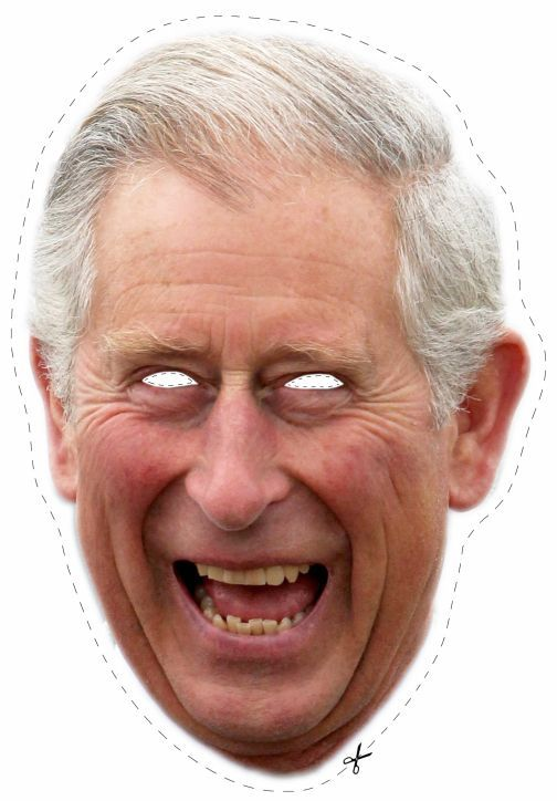 Free Prince Charles Cut Out Printable Mask #free #printable  Free Printable Face Masks