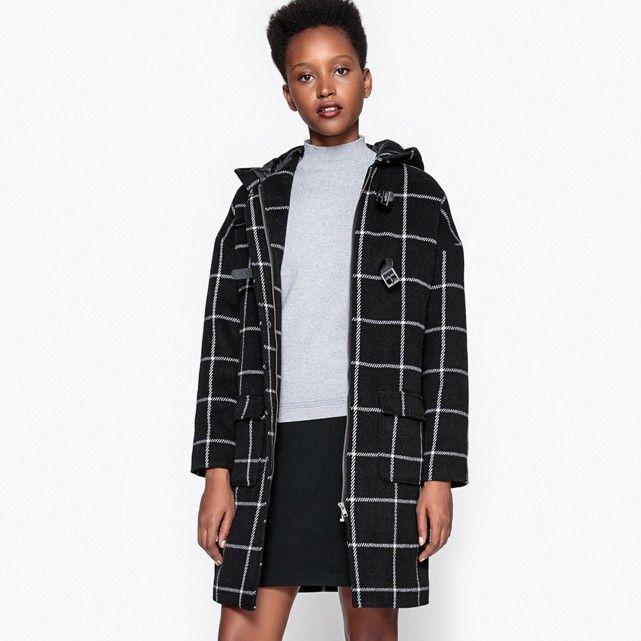 aliexpress comment trouver style attrayant Checked duffle coat , black/white checks, La Redoute ...