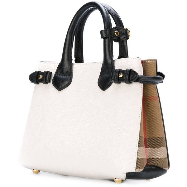 burberry white tote bag