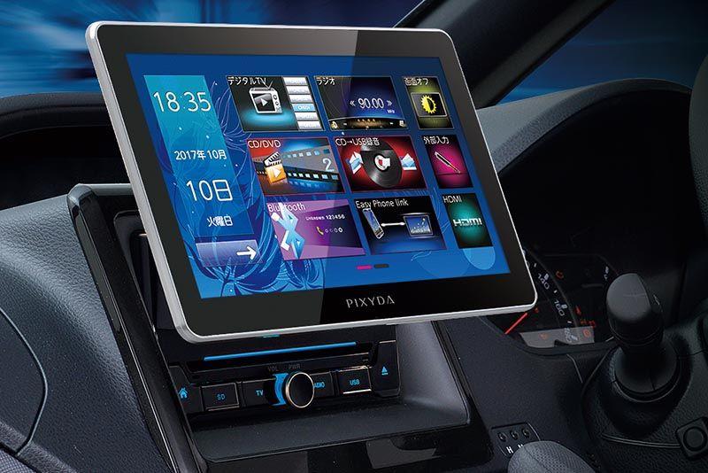 車の2dinに10型画面を装着 スマホ連携 テレビ Dvd内蔵のカーオーディオ カーオーディオ オーディオ マルチメディア