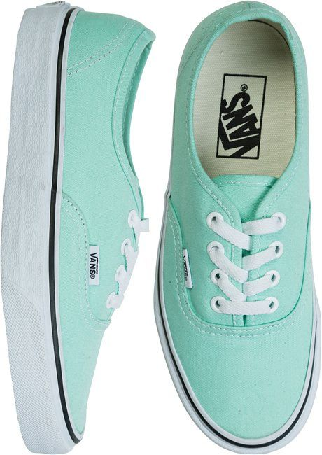 a2b066a97d4943 Vans authentic shoe in mint http   www.swell.com Womens