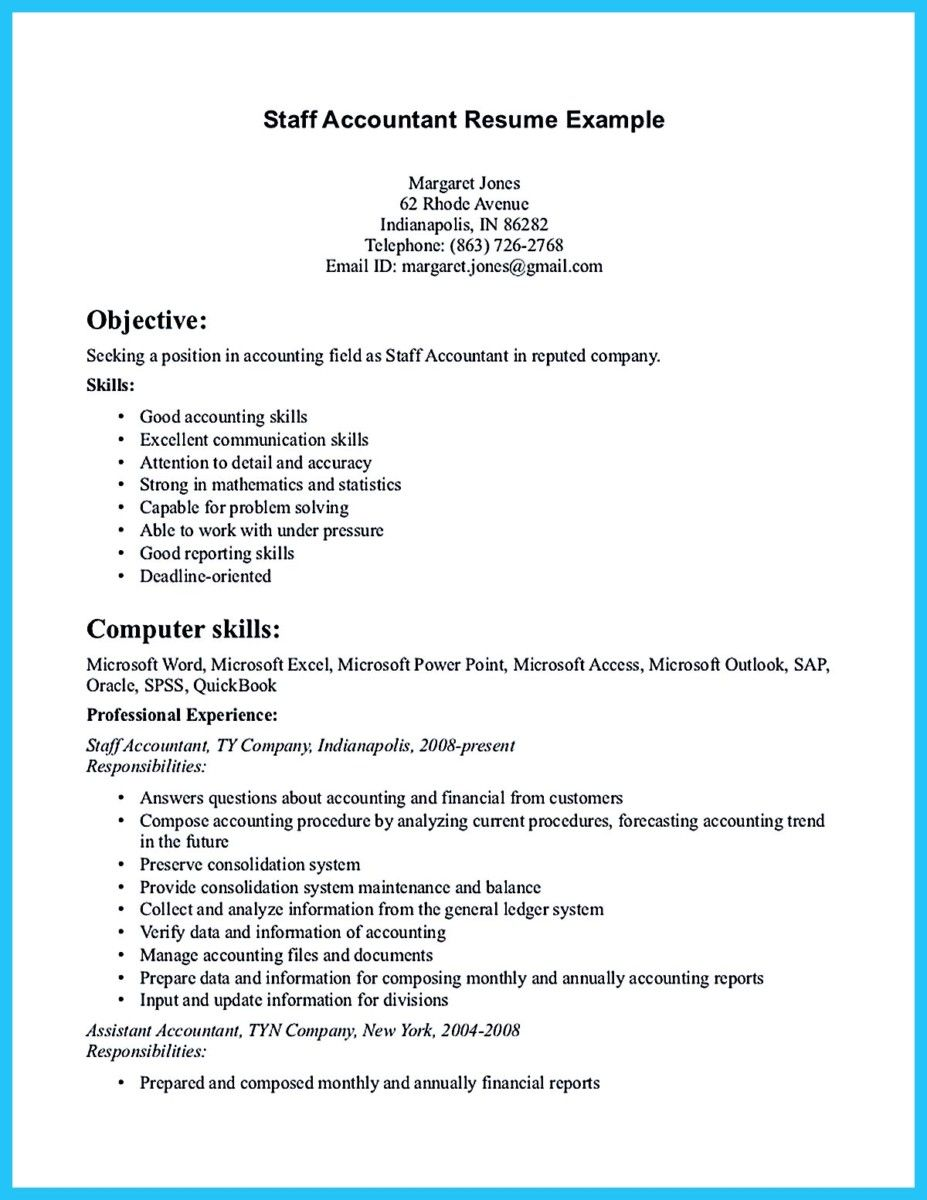 Accountant Resume Sample Nice Sample For Writing An Accounting Resume  Resume Template