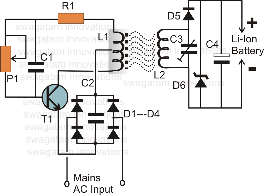 Wireless Li-Ion Battery Charger Circuit | Electrical engineering