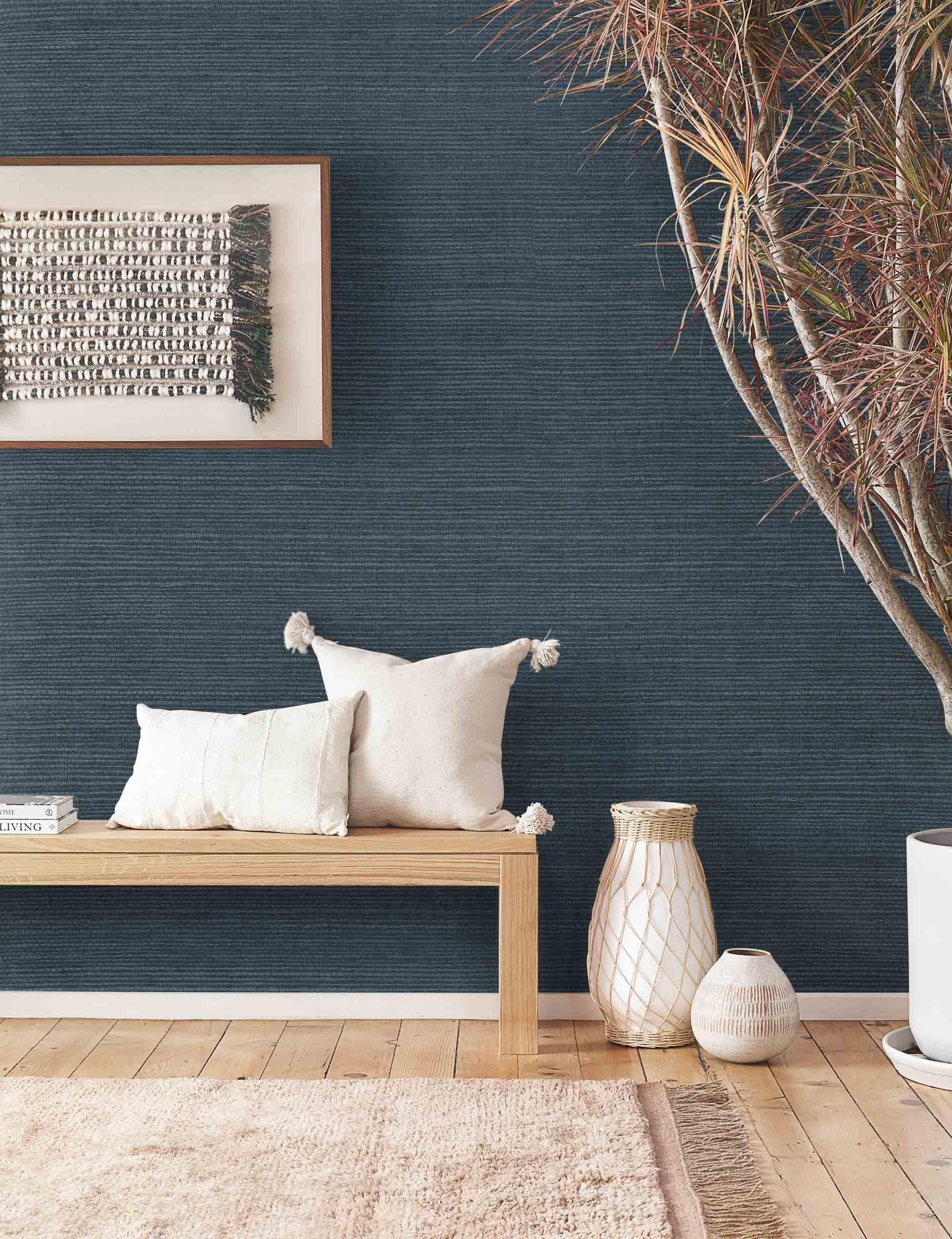 Semira Wallpaper in 2020   Wallpaper living room accent ...
