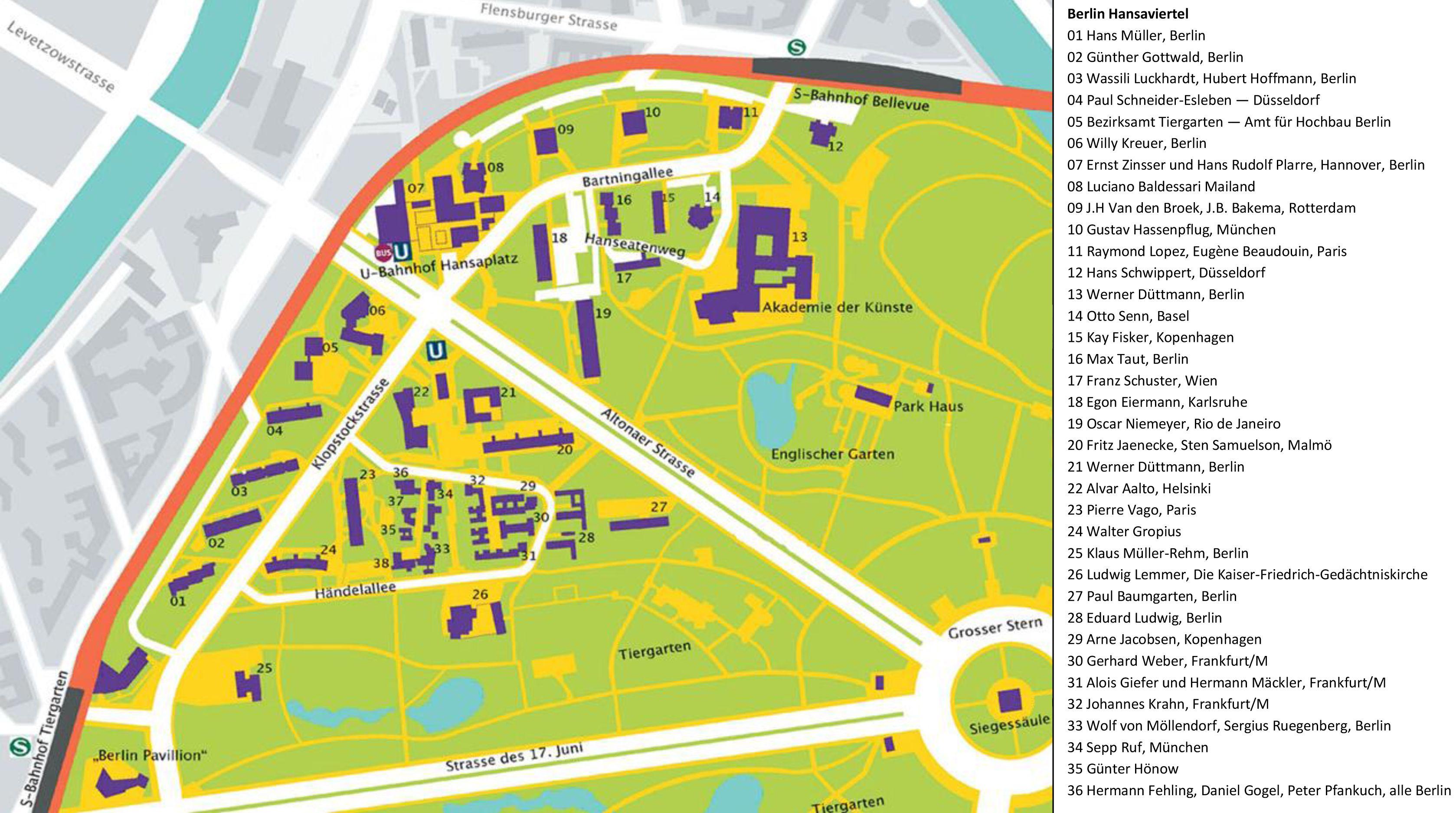 Best Kaart Berlin Hansaviertel