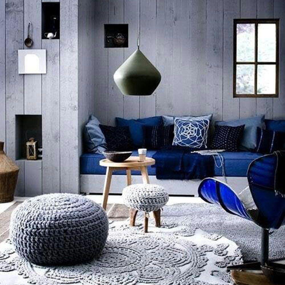 Deco Salon Bleu Roi décoration maison bleu roi et blanc | salon bleu, decoration