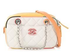 e1116dc92727 Chanel White Quilted Lambskin Cuba Camera Case | Luxe Only Louis ...