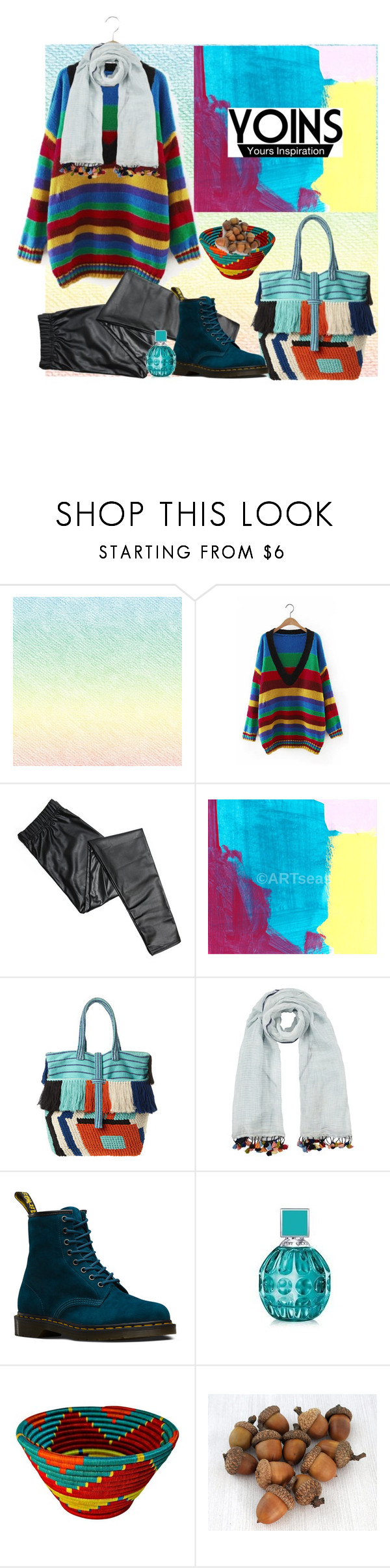 """""""I always see the rainbow after rain"""" by natalyapril1976 ❤ liked on Polyvore featuring Diego Binetti, John Lewis, Dr. Martens and Jimmy Choo"""
