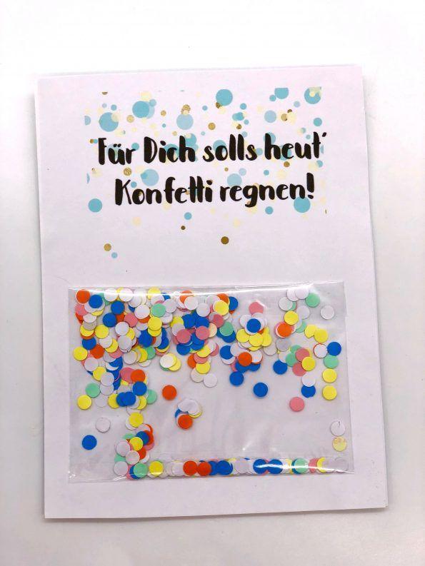 geburtstagskarte zum ausdrucken selber machen mit konfetti diy party ideen pinterest. Black Bedroom Furniture Sets. Home Design Ideas